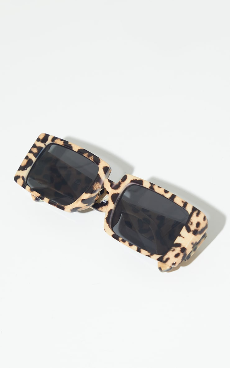 Light Leopard Square Frame Sunglasses 2