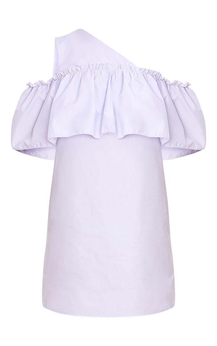 Katarinnah Lilac One Shoulder Frill Shift Dress 3