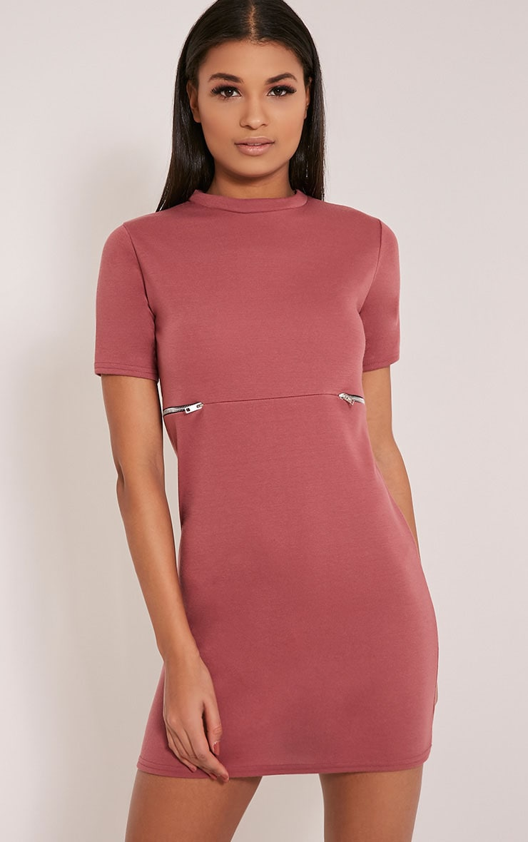 Kendie Rose Zip Detail T Shirt Dress 1