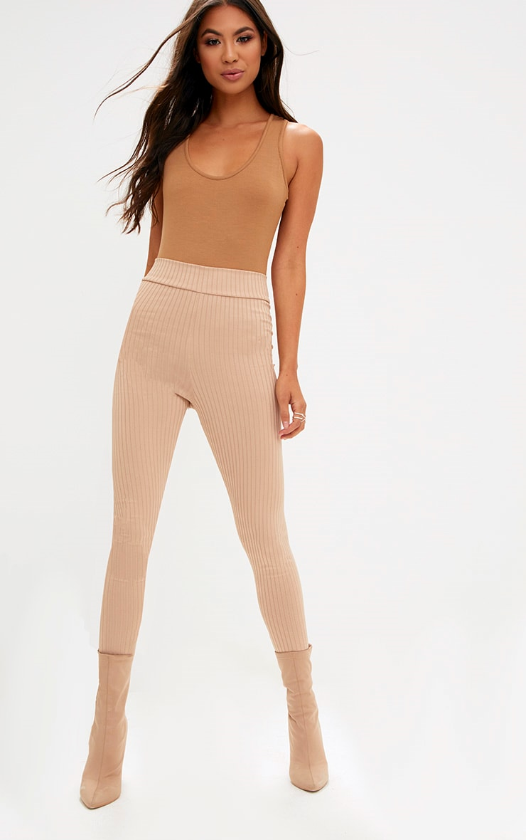 Basic Camel & Taupe Racer Back Bodysuit 2 Pack 7