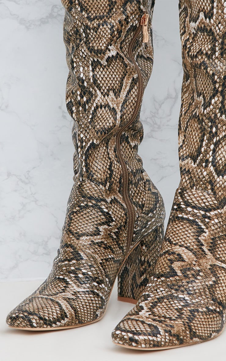 Snake PU Thigh Boot 5