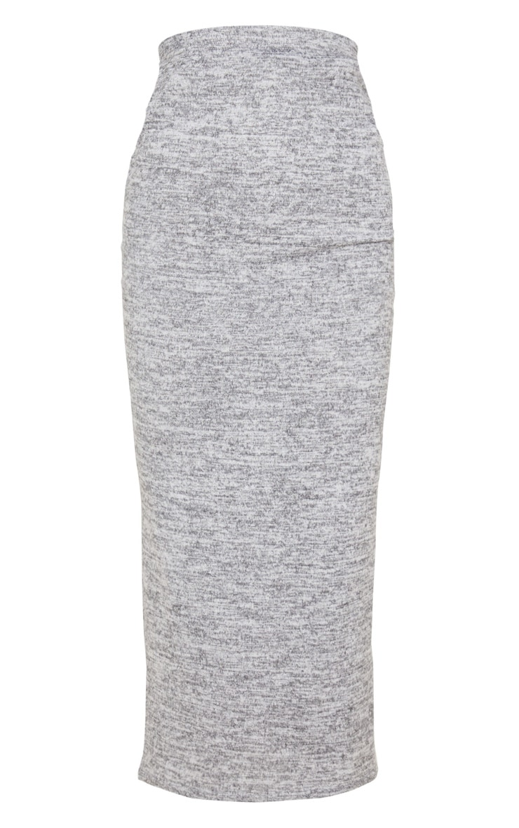 Grey Brushed Marl Maxi Skirt 3