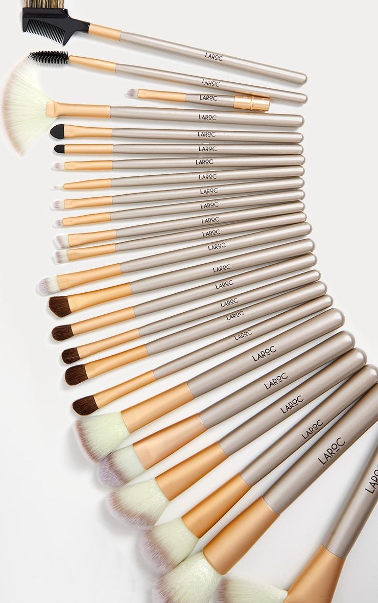24 Piece Champagne Makeup Brush Set