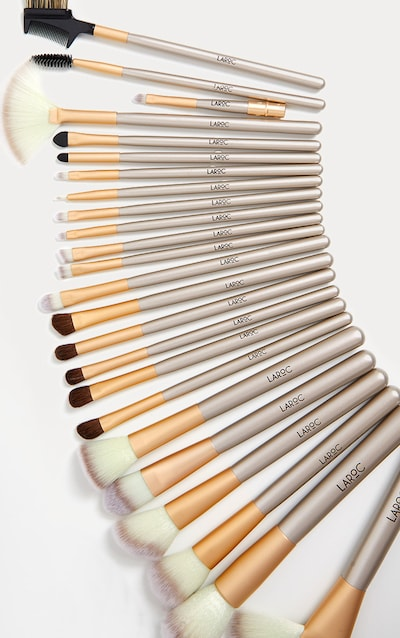 24 Piece Champagne Makeup Brush Set