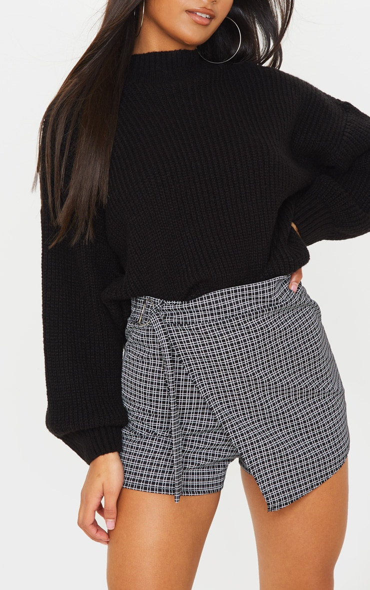 Black Base Check Belted Skort 6