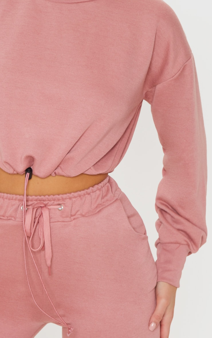Dusty Pink Basic Gym Sweat Top 4