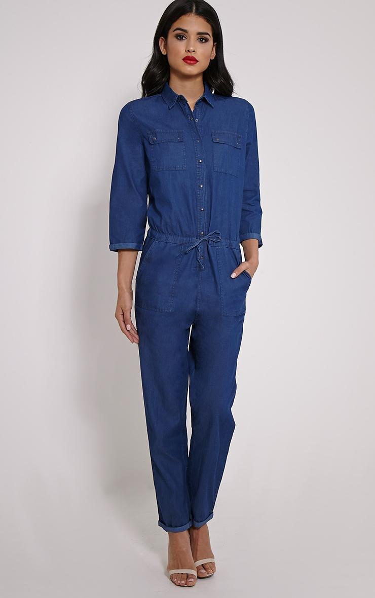 Symron Blue Denim Boiler Suit 4
