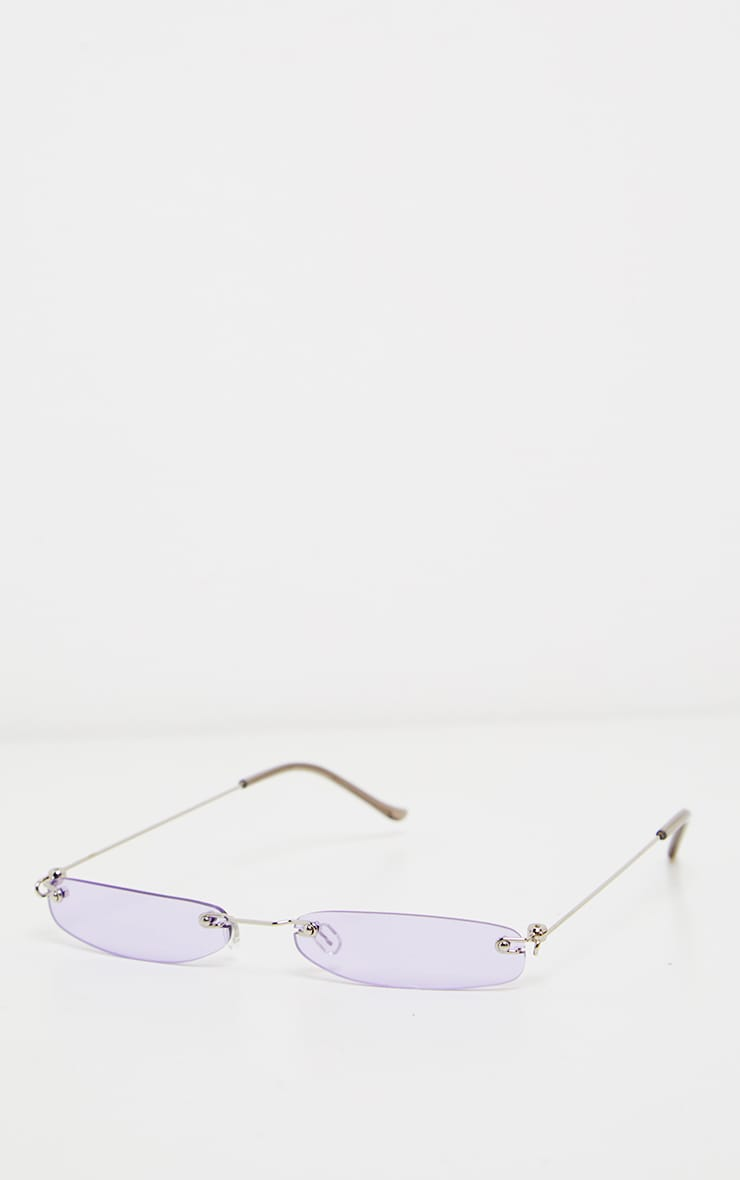 Purple Slim Line Reader Sunglasses 2