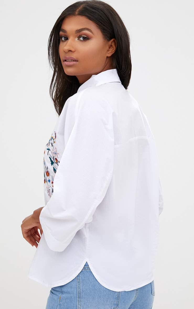 Callie White Embroidered Shirt 2