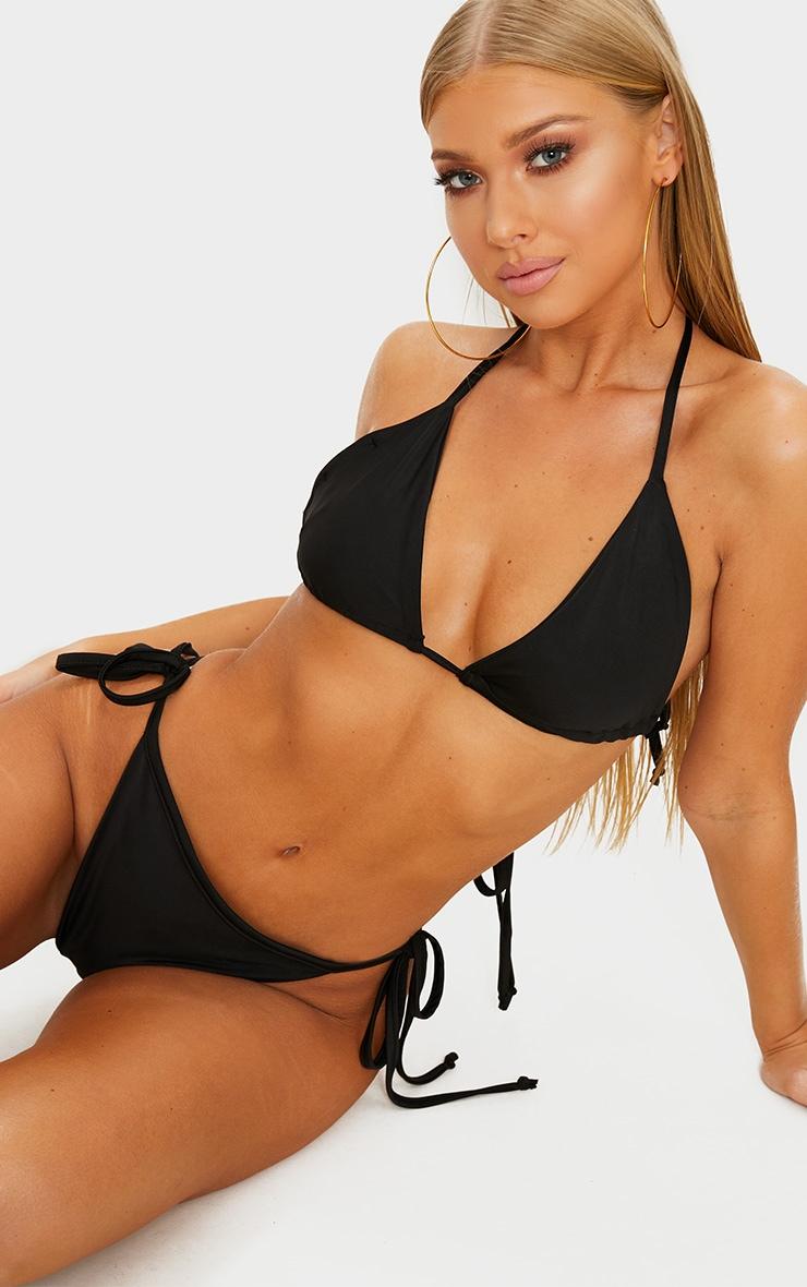 Black Mix & Match Triangle Bikini Top 1
