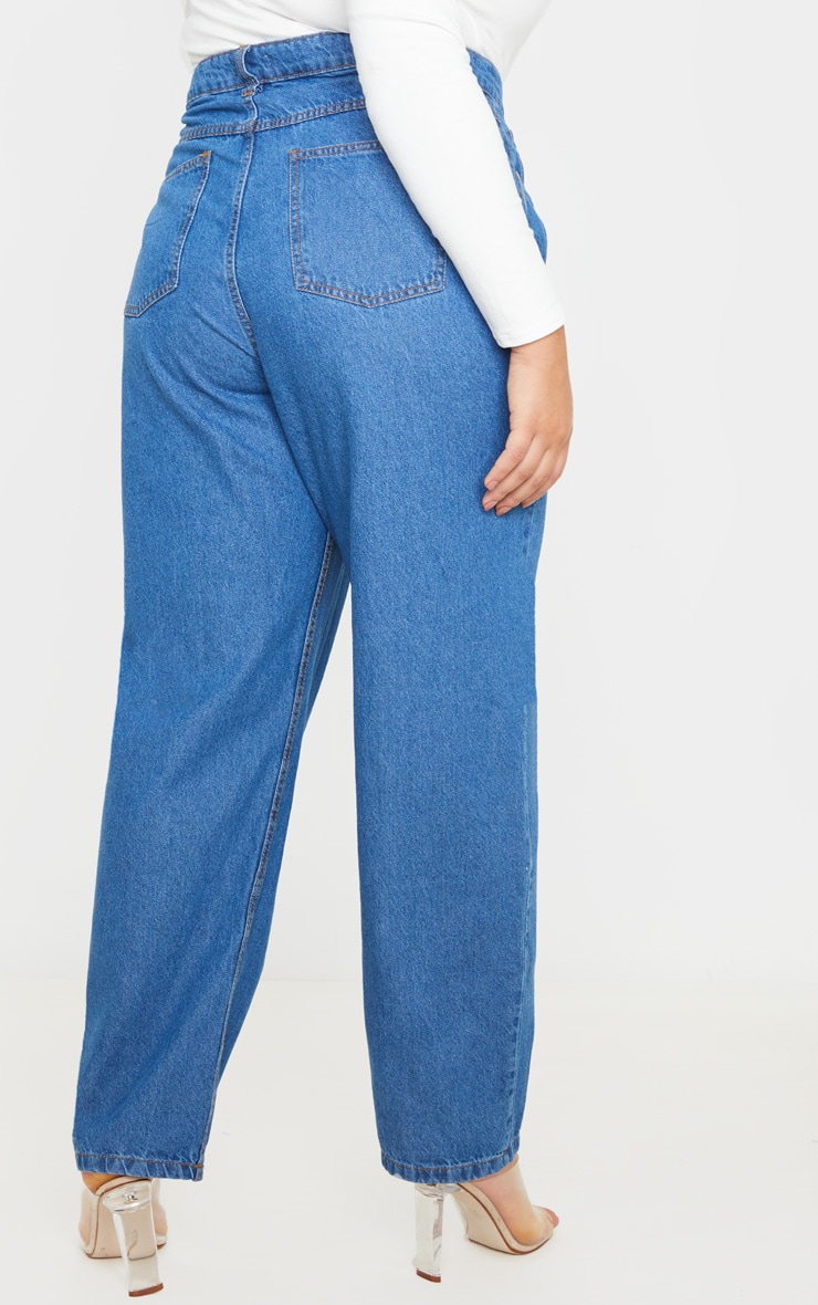 Plus Mid Wash Slim Mom Jean 4