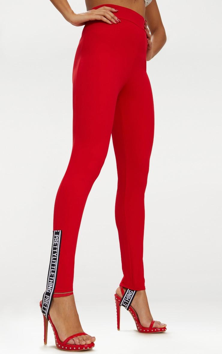 Red Skinny Stirrup Trouser 2
