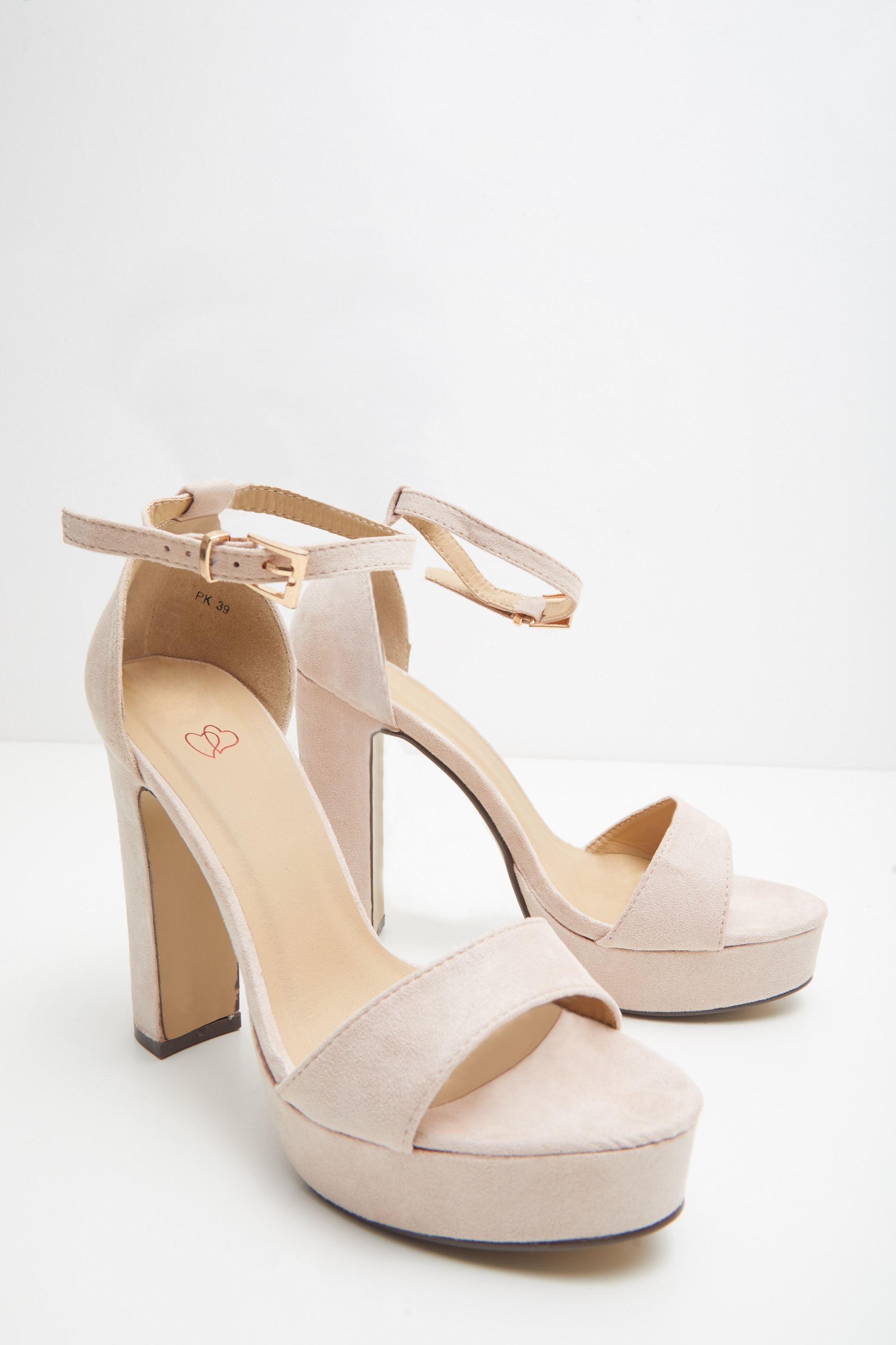 Taya Nude Faux Suede Platform Sandals 3