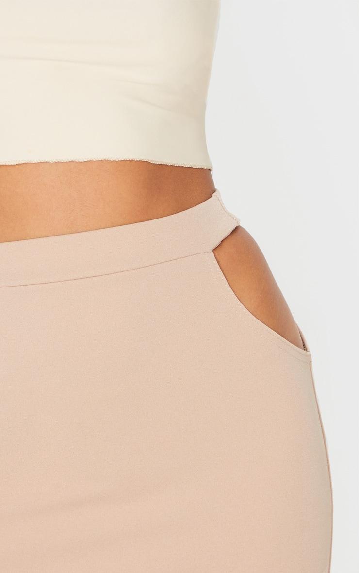 Petite Stone Cut Out Side Mini Skirt 6