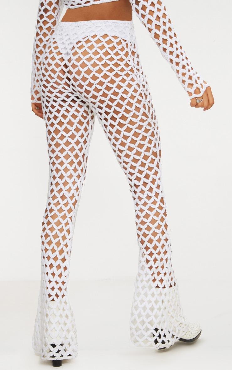 White Crochet Flares 4