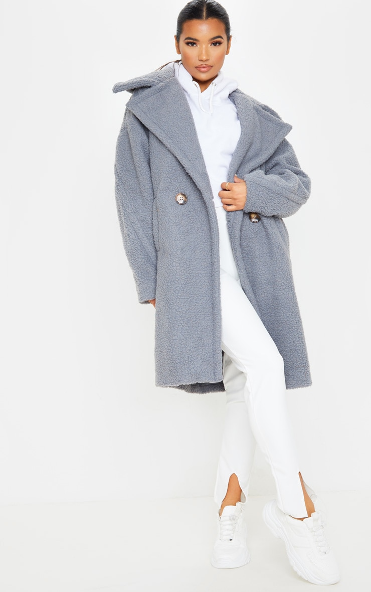 Grey Borg Drop Arm Midi Coat 1