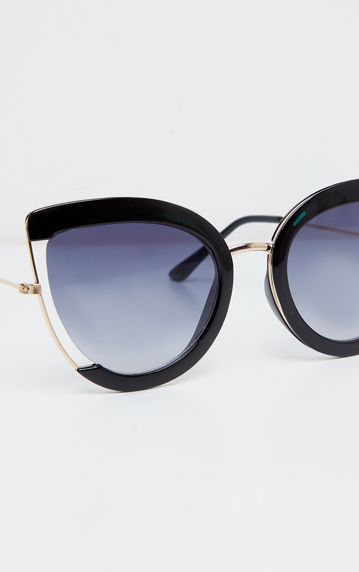 Black Oversized Cut Out Sunglasses 5