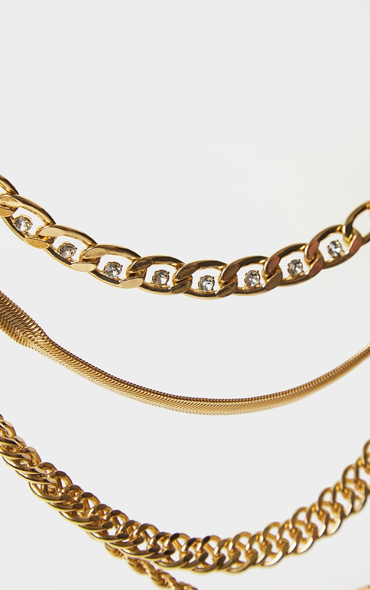 Gold Multi Assorted Layering Necklaces 3