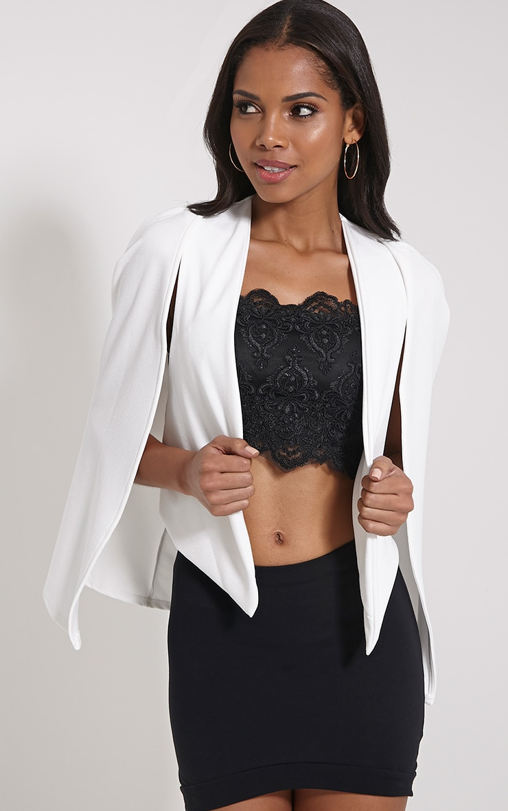 Leola Cream Cape Blazer 1