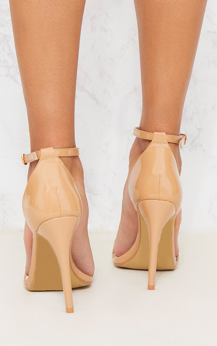 Nude Patent Heeled Strappy Sandal 4