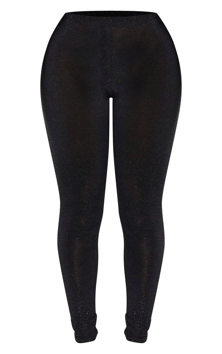 Shape Black Glitter High Waist Legging 3