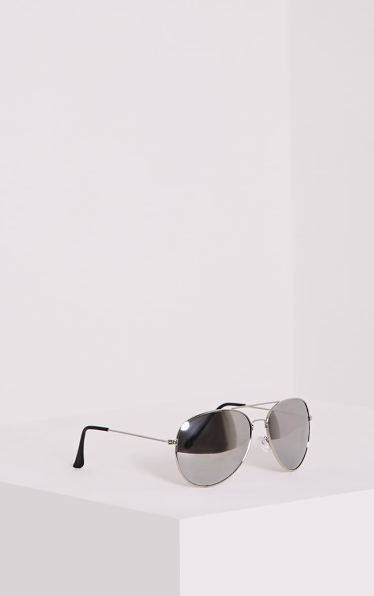 Quin Silver Mirrored Aviator Sunglasses 4