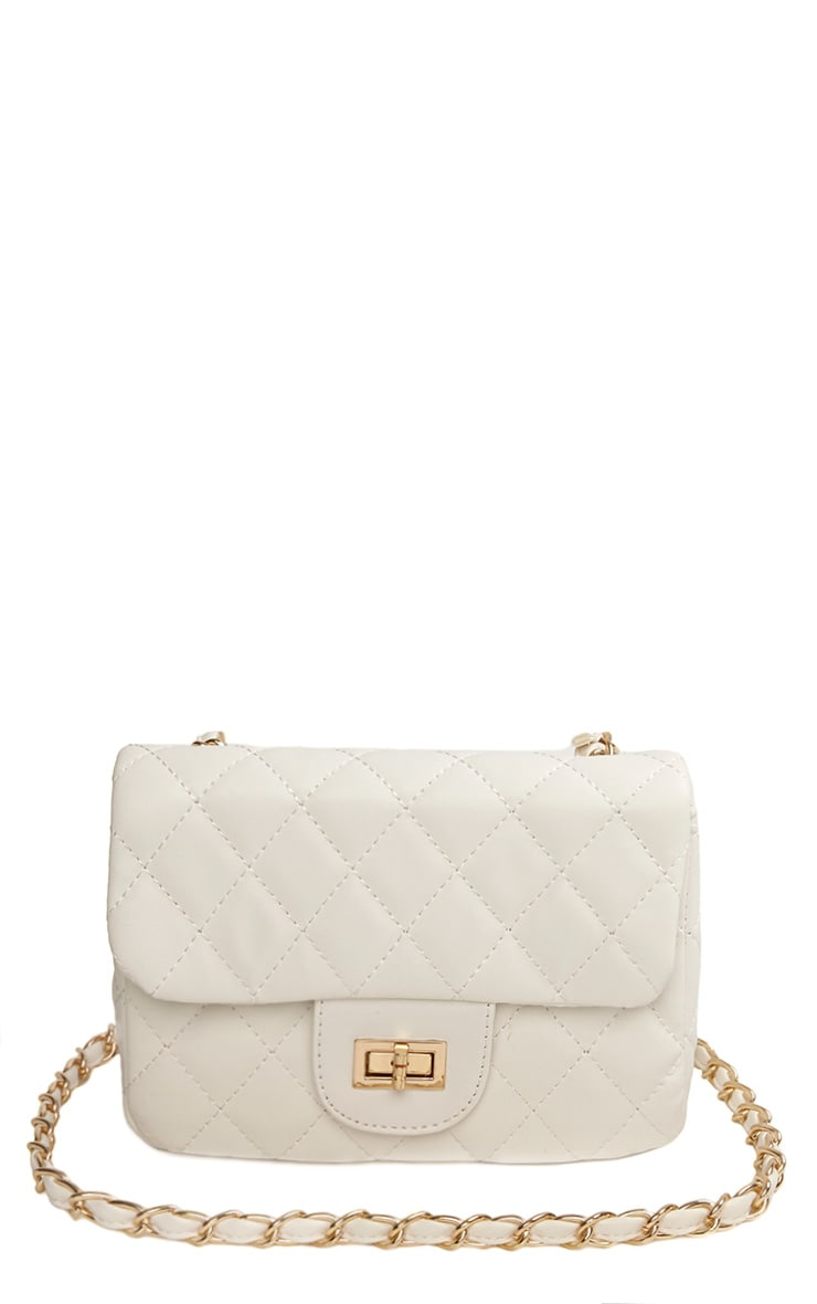 Corena White Quilted Bag 3