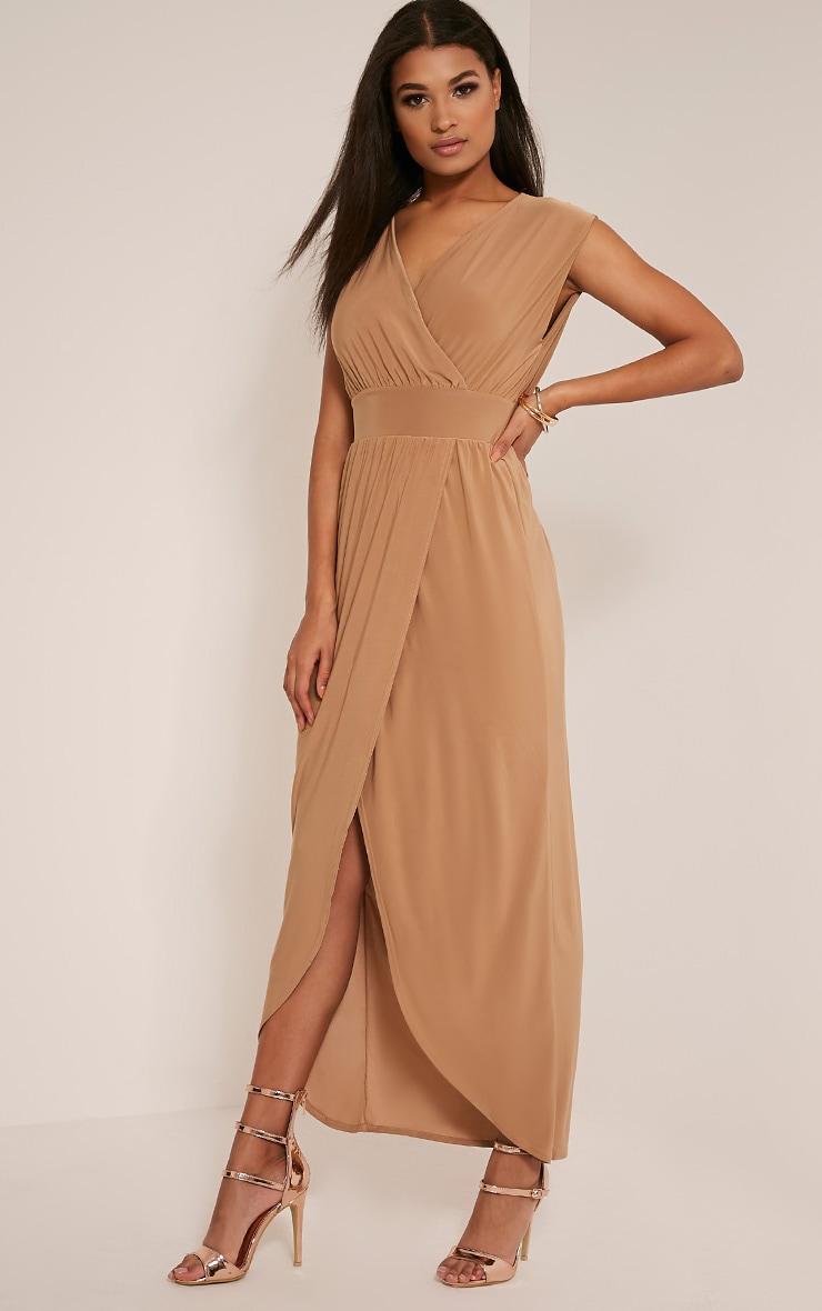 Marlisa Tan Slinky Plunge Maxi Dress 4