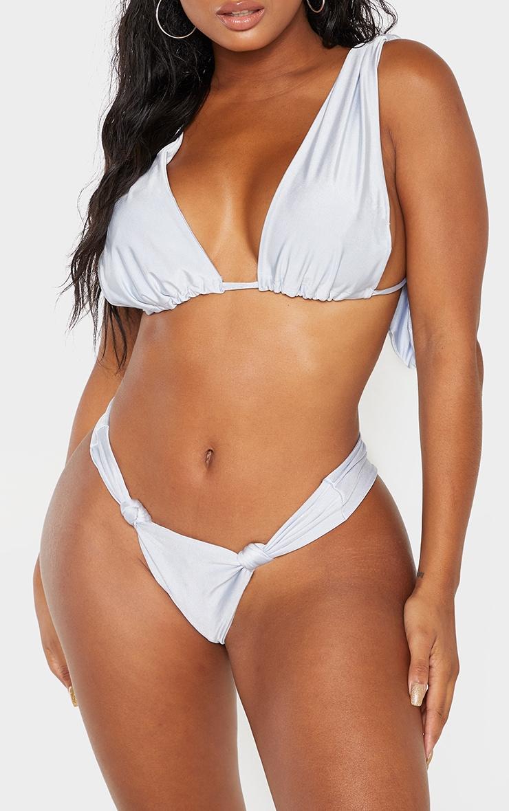 Shape Dusty Blue Knot Detail Bikini Bottom 1