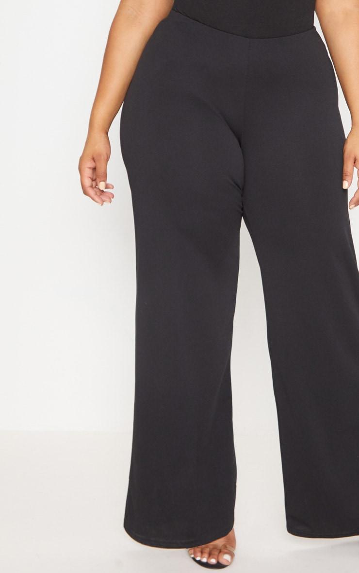 Plus Black High Waisted Wide Leg Trouser 5