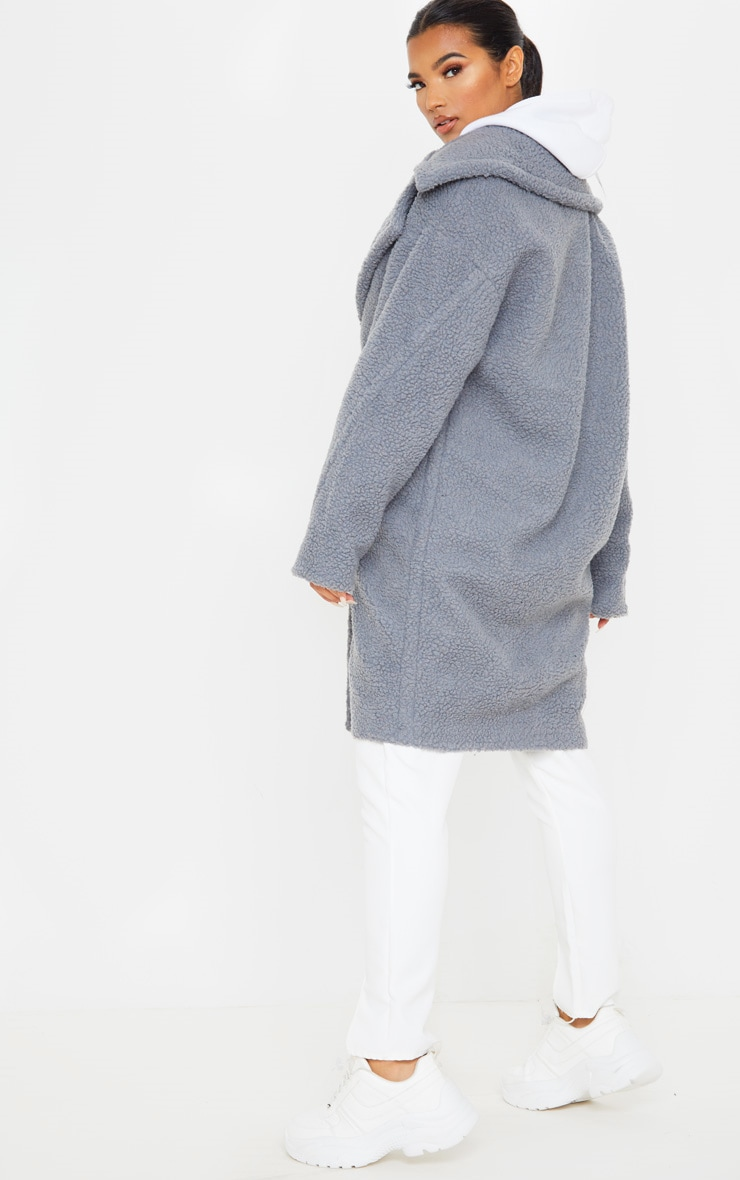 Grey Borg Drop Arm Midi Coat 2