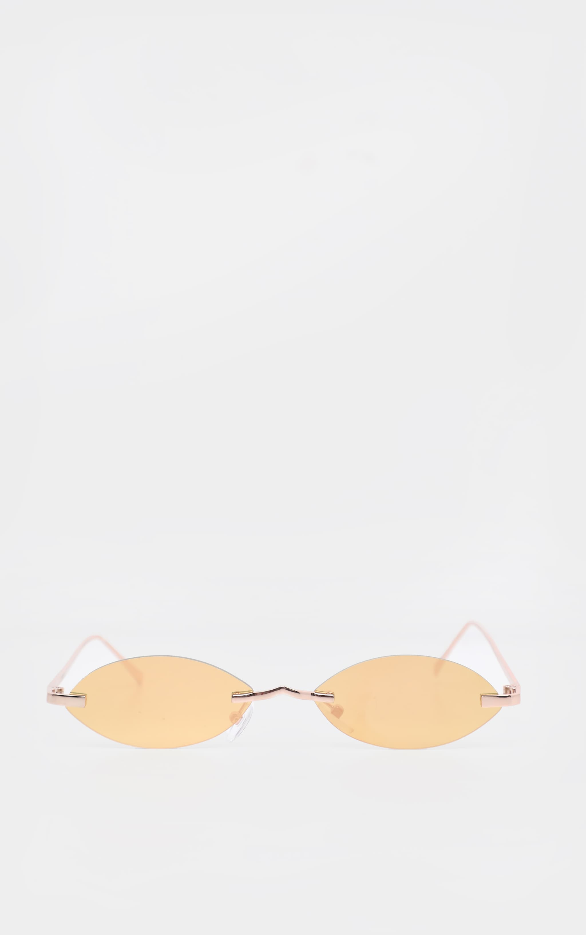 Gold Revo Lens Cat Eye Sunglasses 2