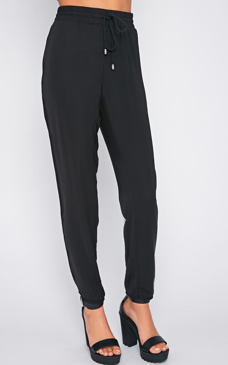 Lexi Black Drawstring Trouser  2