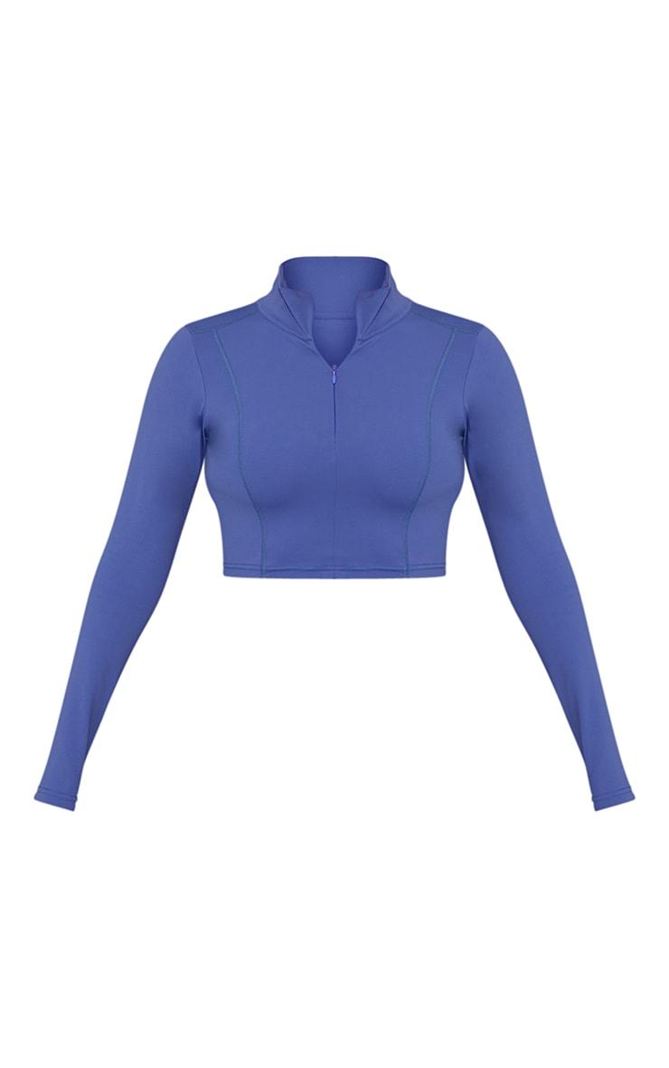 Blue Zip Up Sculpt Luxe Jacket 5