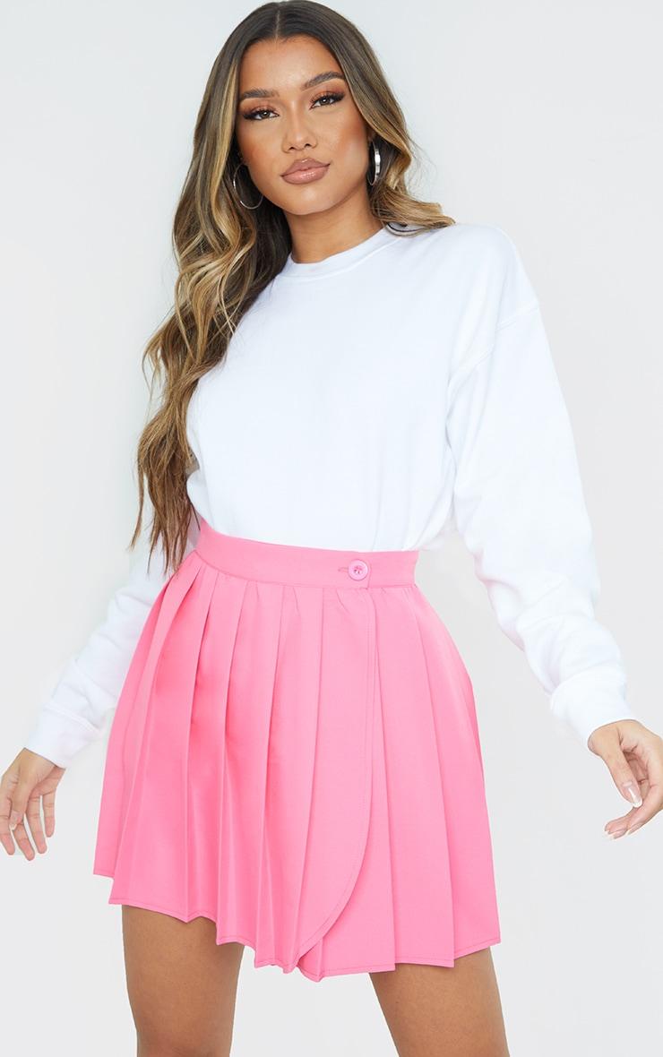 Pink Woven Skater Skirt 4