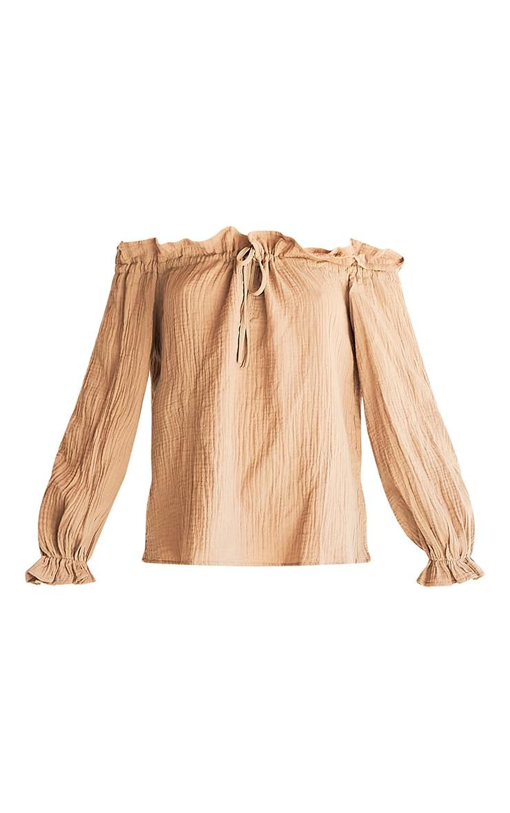 Stone Textured Bardot Tie Top 5