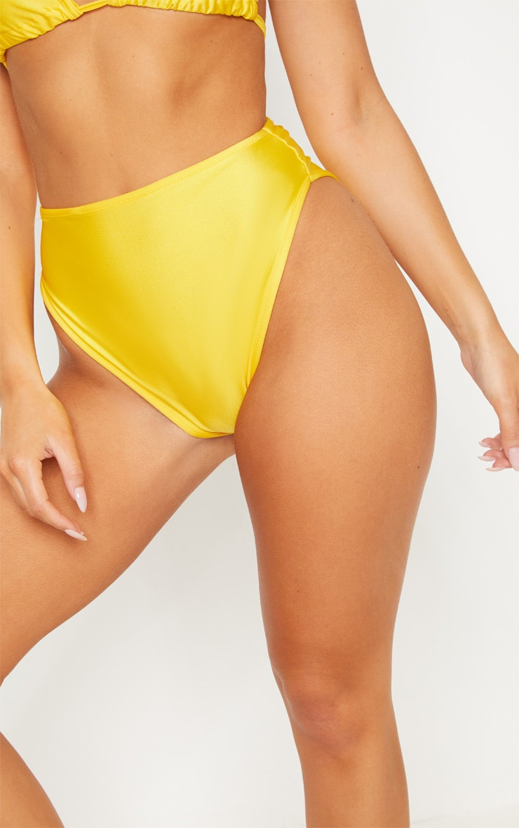 Yellow Mix & Match High Waisted High Leg Bikini Bottom 6