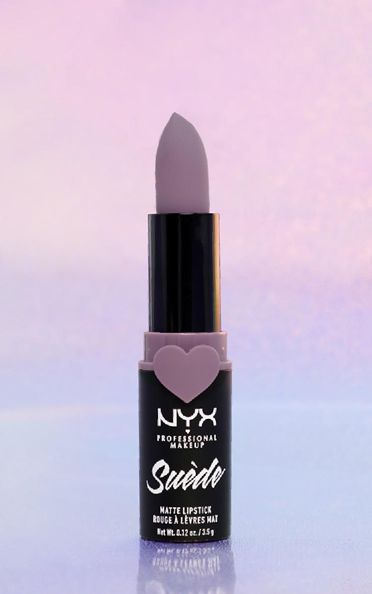 NYX Professional Makeup Suede Matte Lipstick Violet Smoke 1