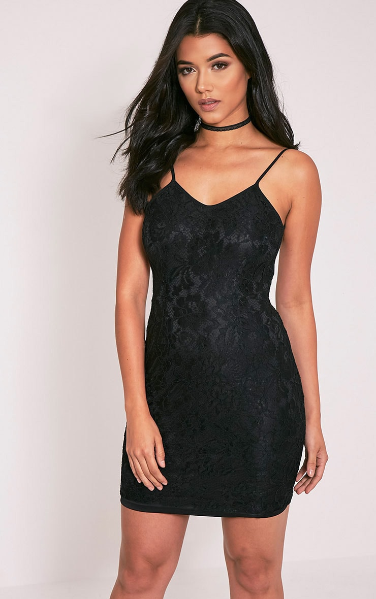 Patricia Black Scoop Back Lace Mini Dress 1