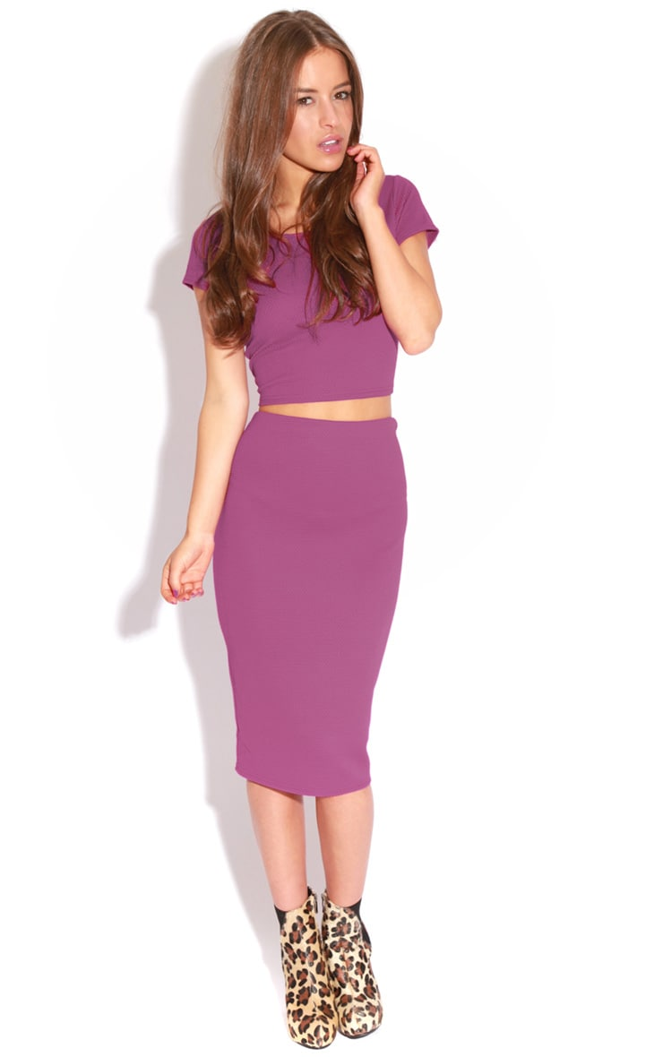 Fallon Purple MIdi Skirt 4