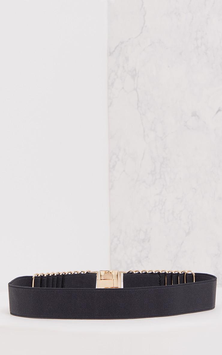Delphy Black Plaited Detail Belt 4