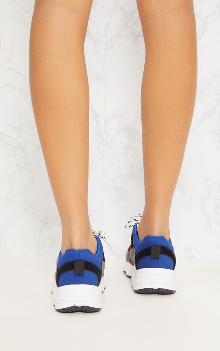 Blue Chunky Trainers 4