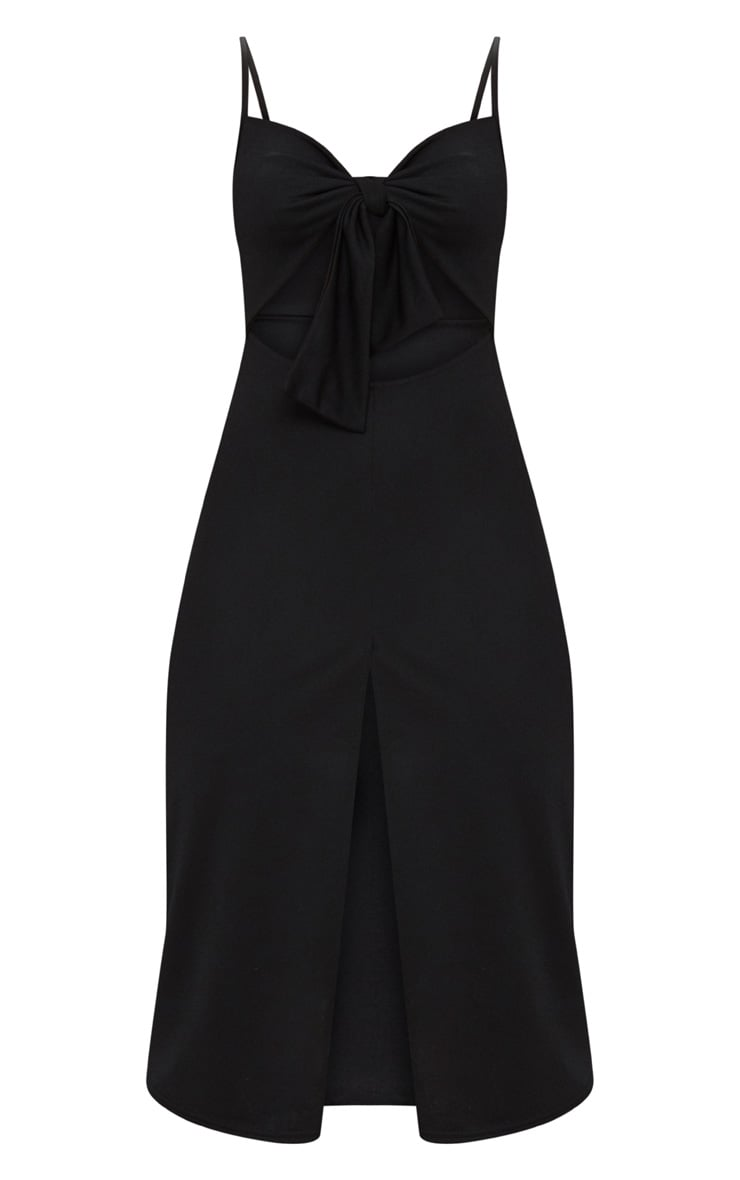 Black Tie Front Strappy Swing Dress 3