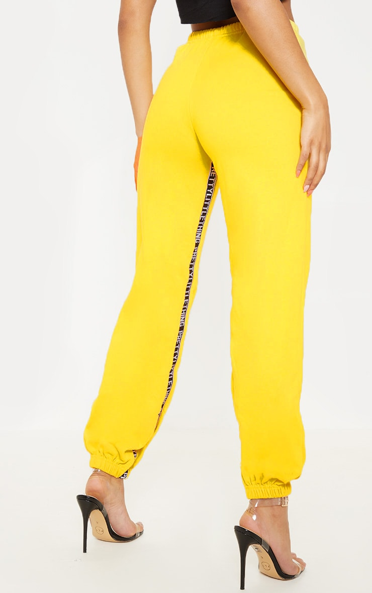 PRETTYLITTLETHING Yellow Joggers 4