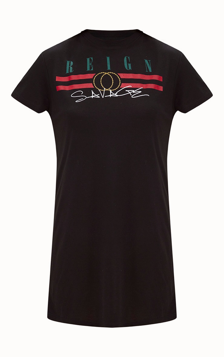 Reign Black T Shirt Dress 3