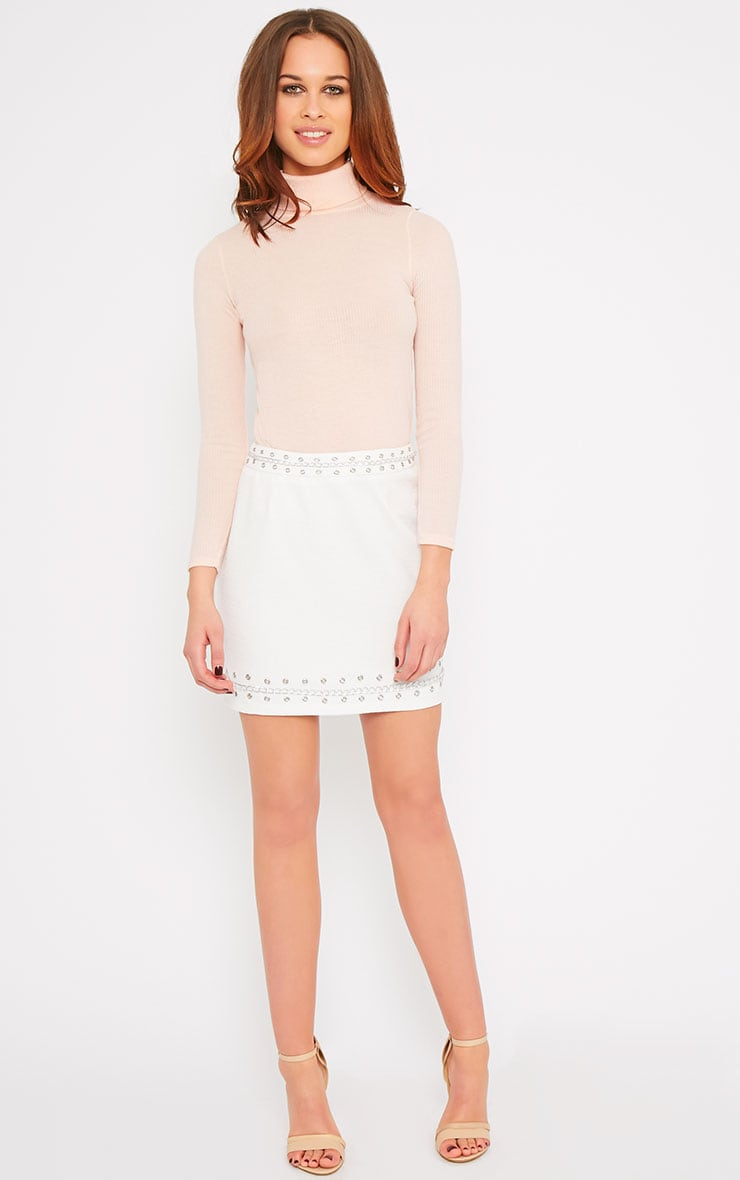 Evelyn White Chain Trim Mini Skirt -XS 5