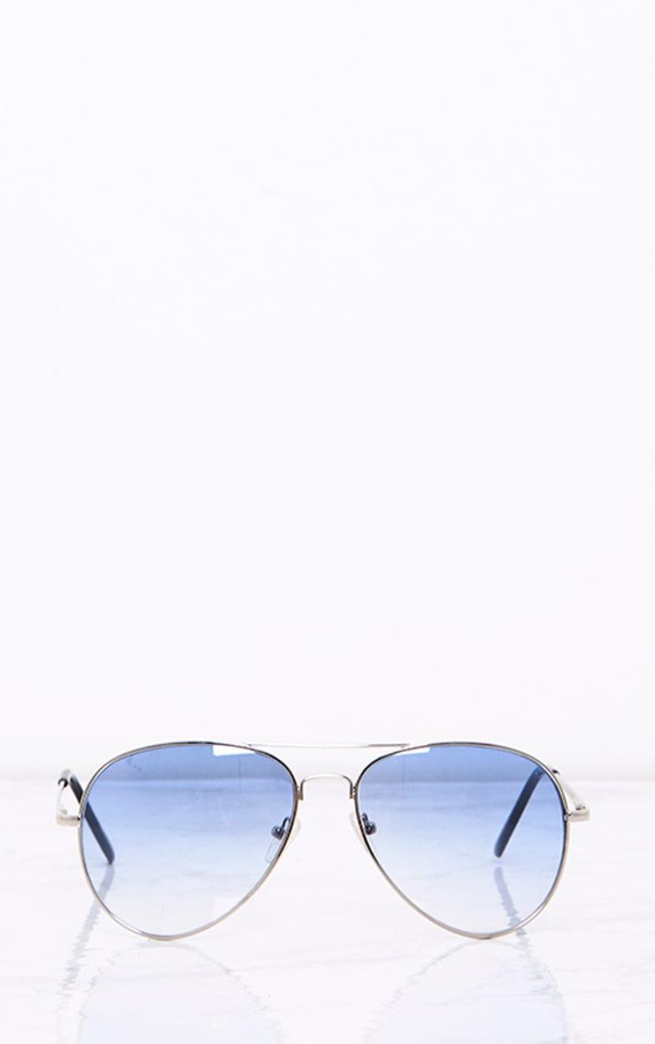 Kelie Blue Tinted Lens Aviators 3