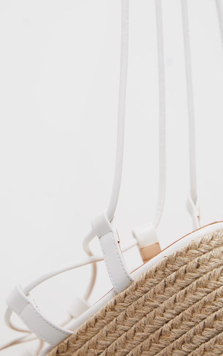 White Strappy Espadrille Flatform 4