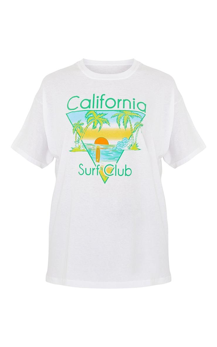 White California Surf Club Printed T Shirt 5
