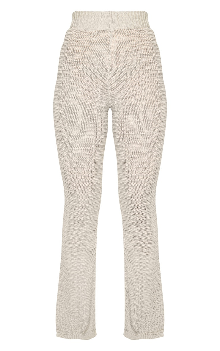 Stone Knitted Tape Yarn Flare Trousers 5